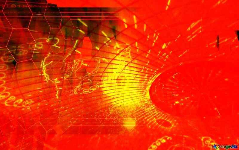 Red futuristic shape. Frame laser Frame Technology №51526