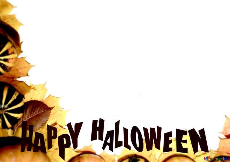 Autumn background Happy Halloween №35179