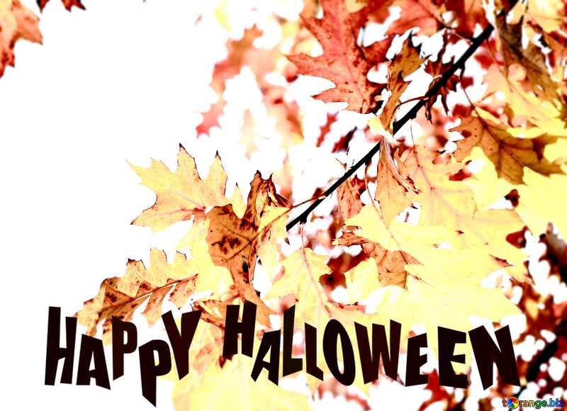 Autumn leaves Happy Halloween №38535
