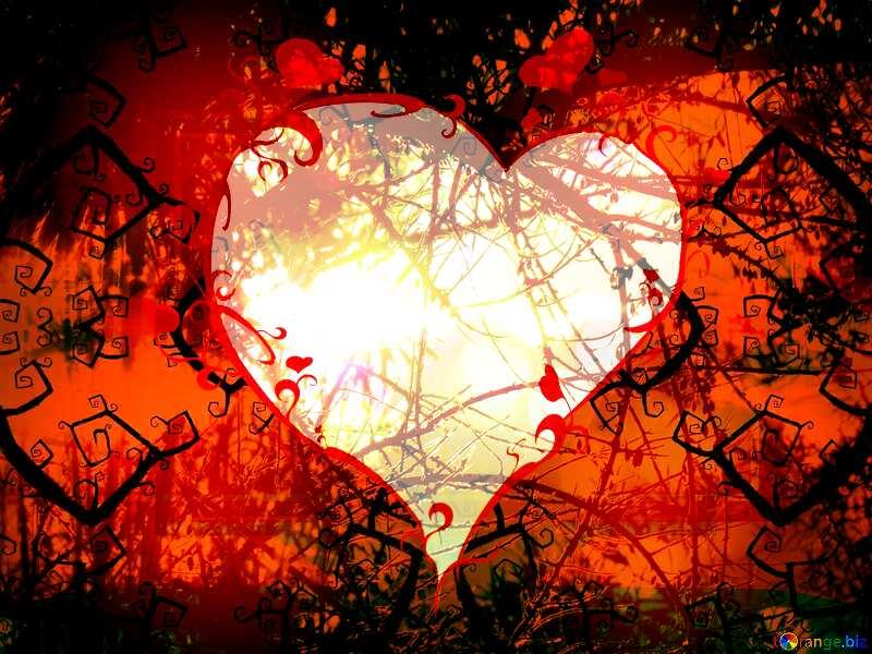 Spooky forest Beautiful Design Heart Halloween Template №40591