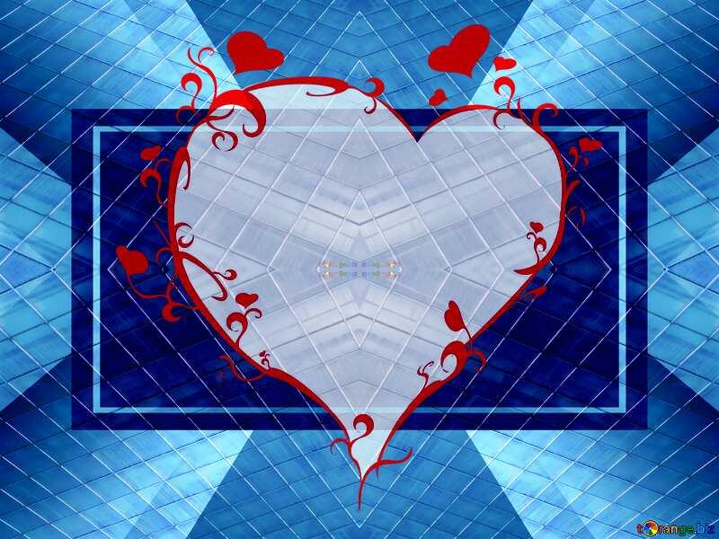 Diamonds infographic template heart frame №1293