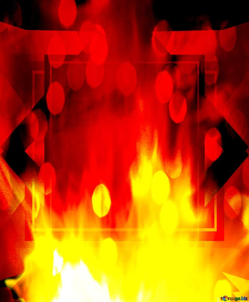 Sale banner  Fire Wall. bokeh lights design background №9546