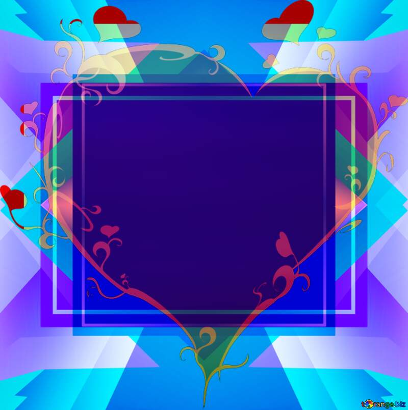 Wood love  heart template №42298