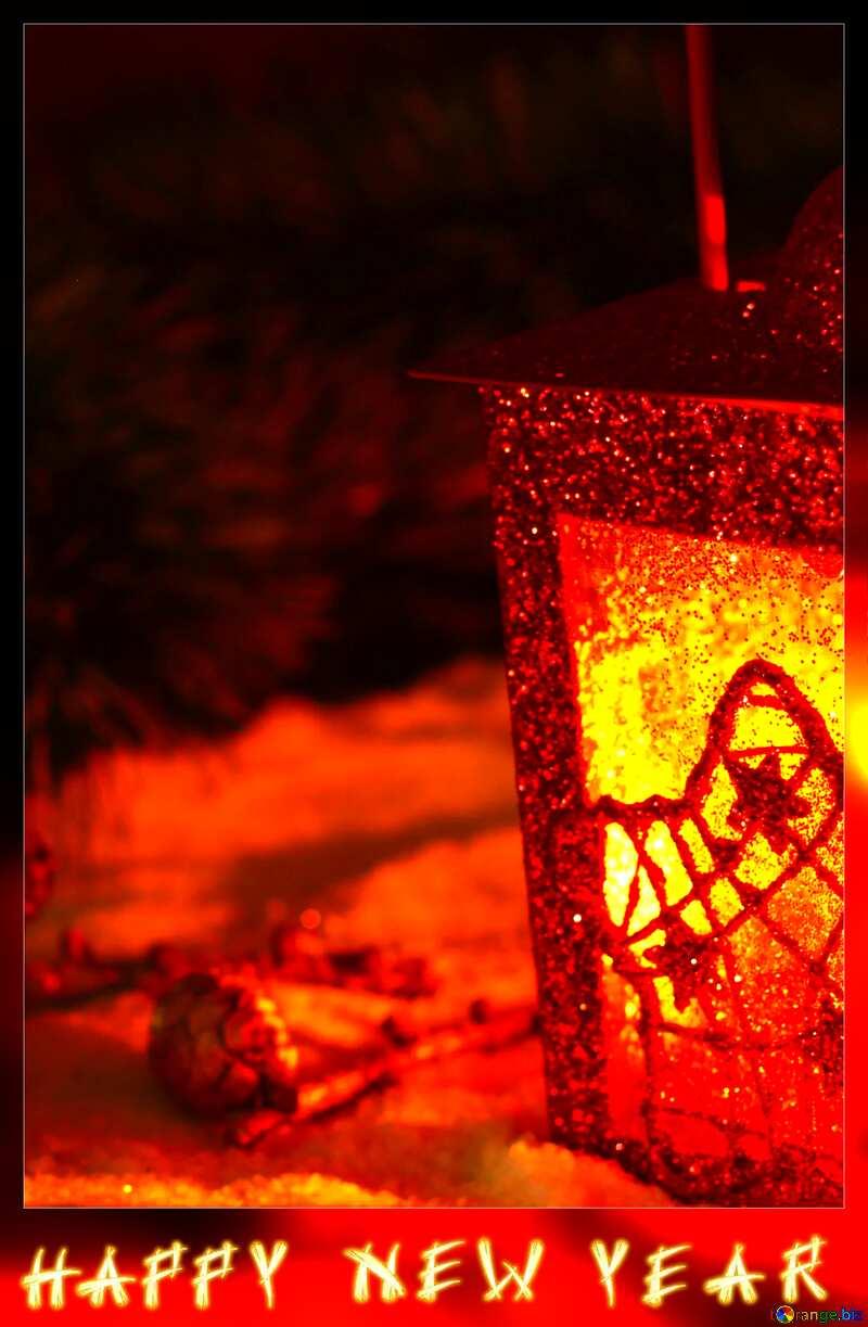 Christmas card blank happy new year №37923