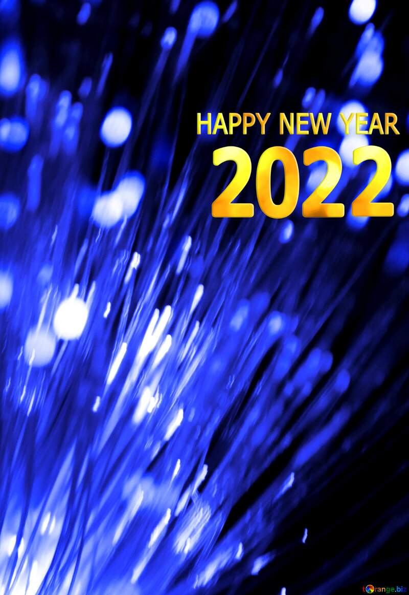 happy new year 2022 lights blue template №41330