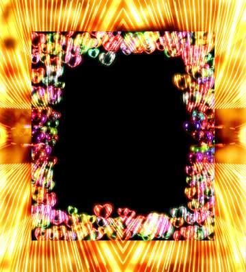 Die Wirkung der Spiegel. Die Wirkung von Licht. Rahmen grau Fuzzy.