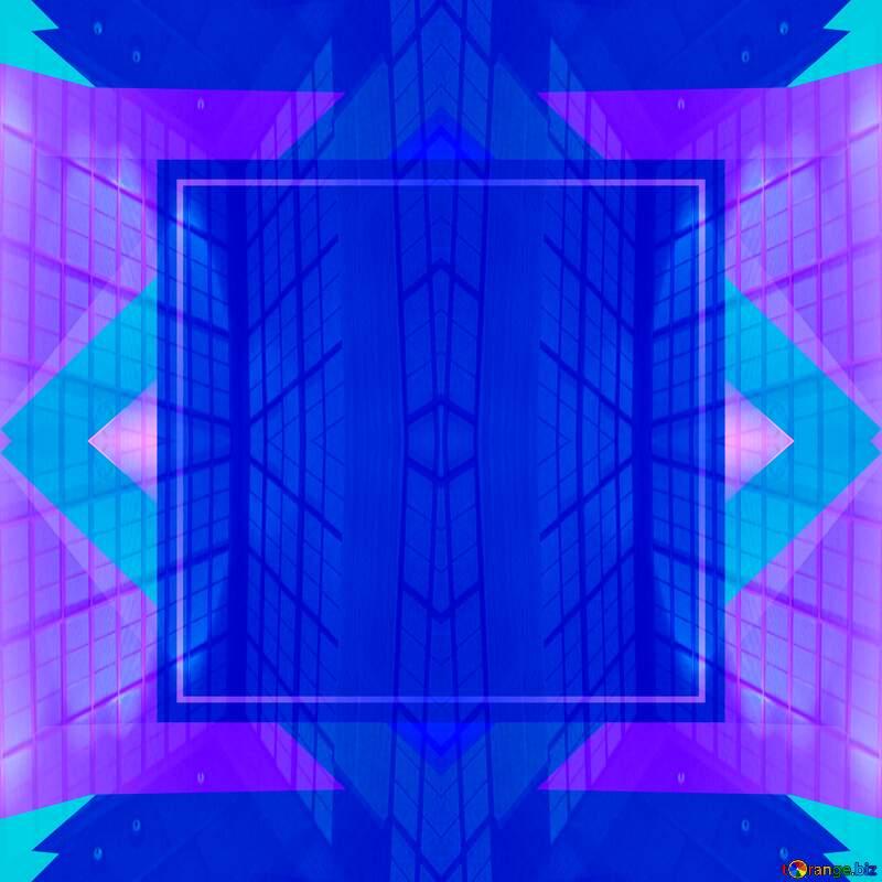 Geometric square backdrop blue Blank Frame №49675
