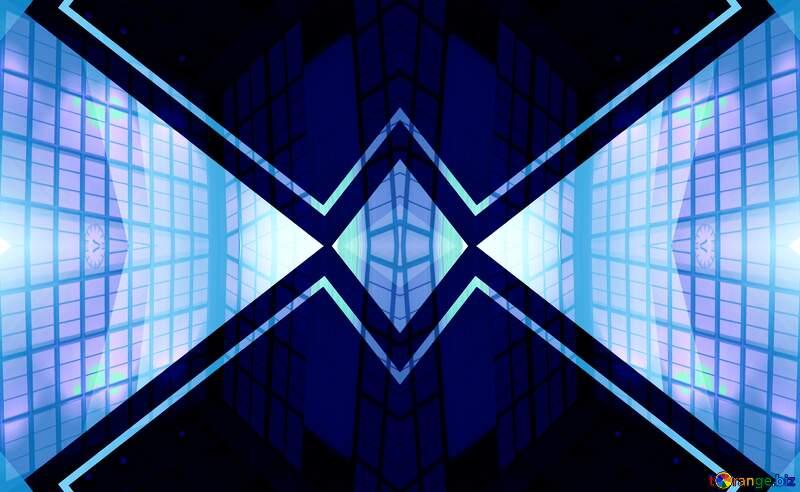 Geometric square backdrop blue №49675