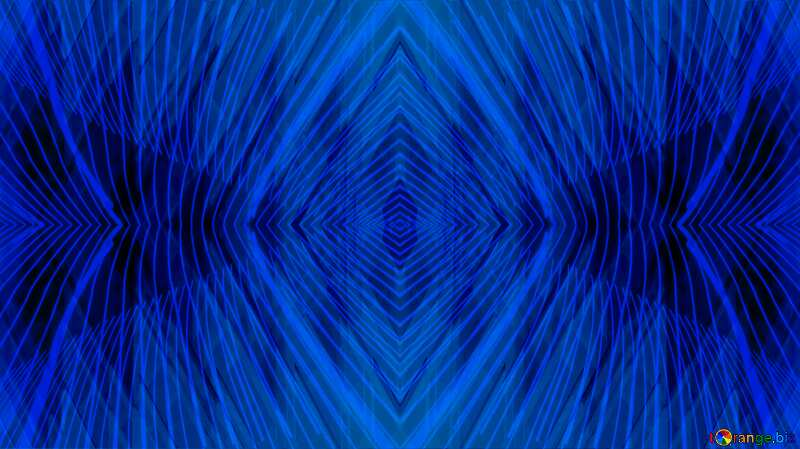 Lights lines curves pattern dark blue Technology Geometric №51526