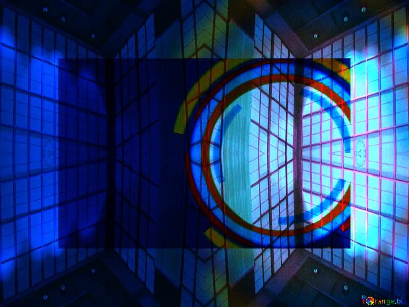 Geometric square backdrop blue Infographics Circle Frame №49680