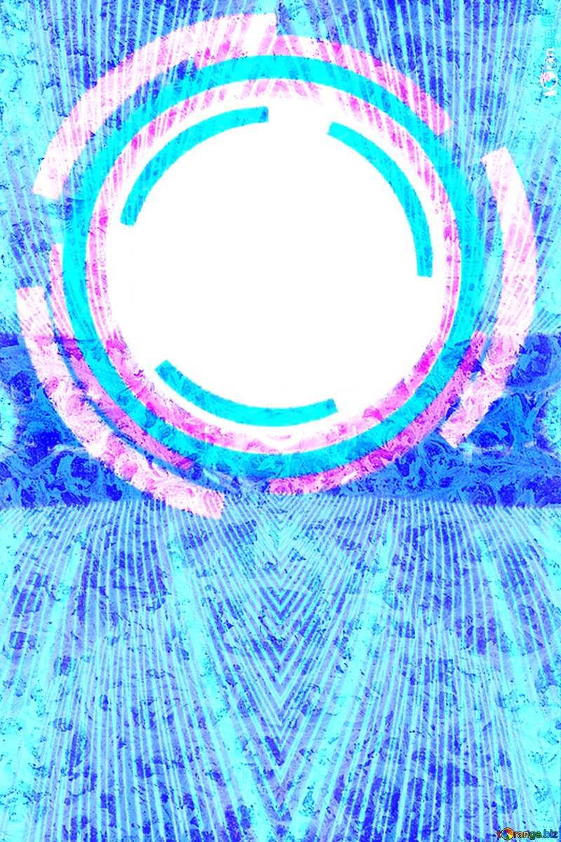 Frozen Infographics frame Lights lines curves pattern template №49680