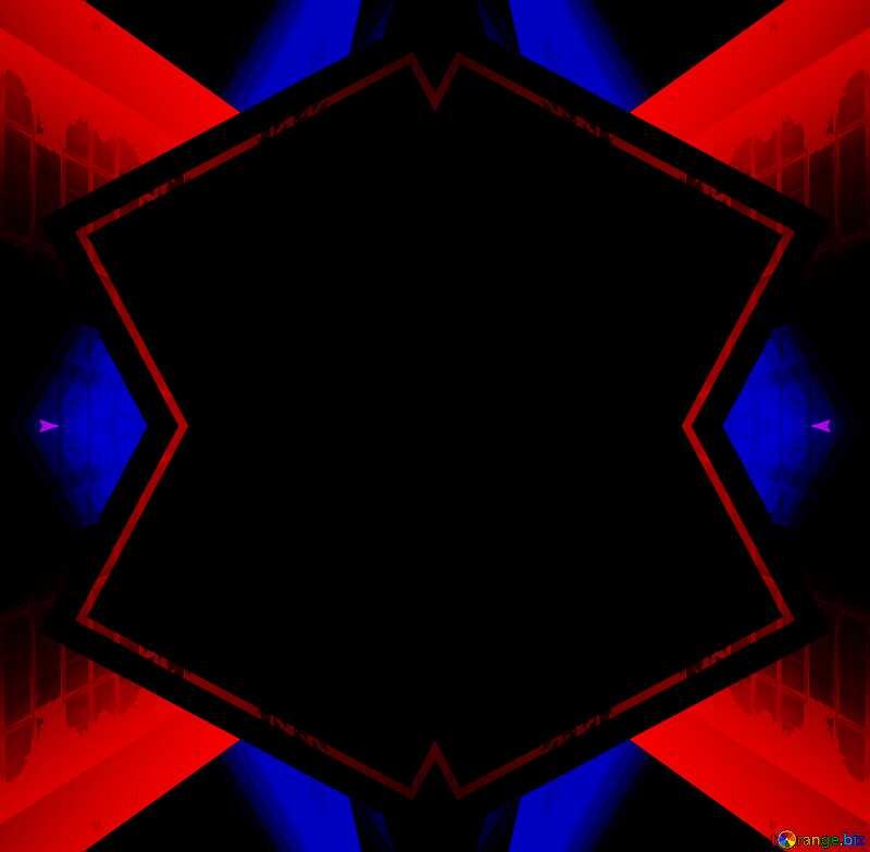 Geometric square backdrop dark red blue №49675