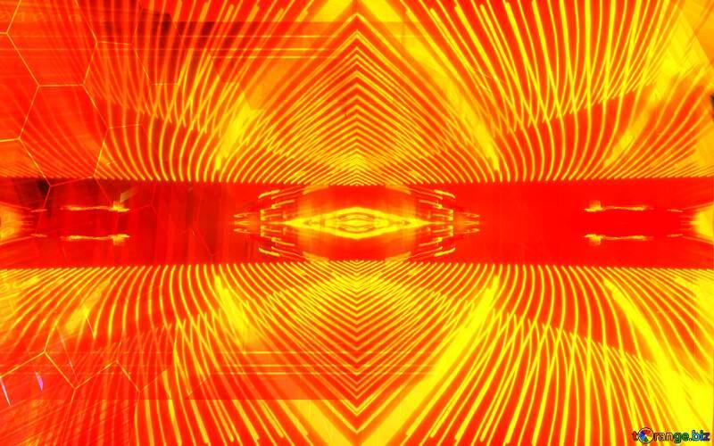 Red futuristic shape. Frame laser Frame Technology Lights lines curves pattern template №51526