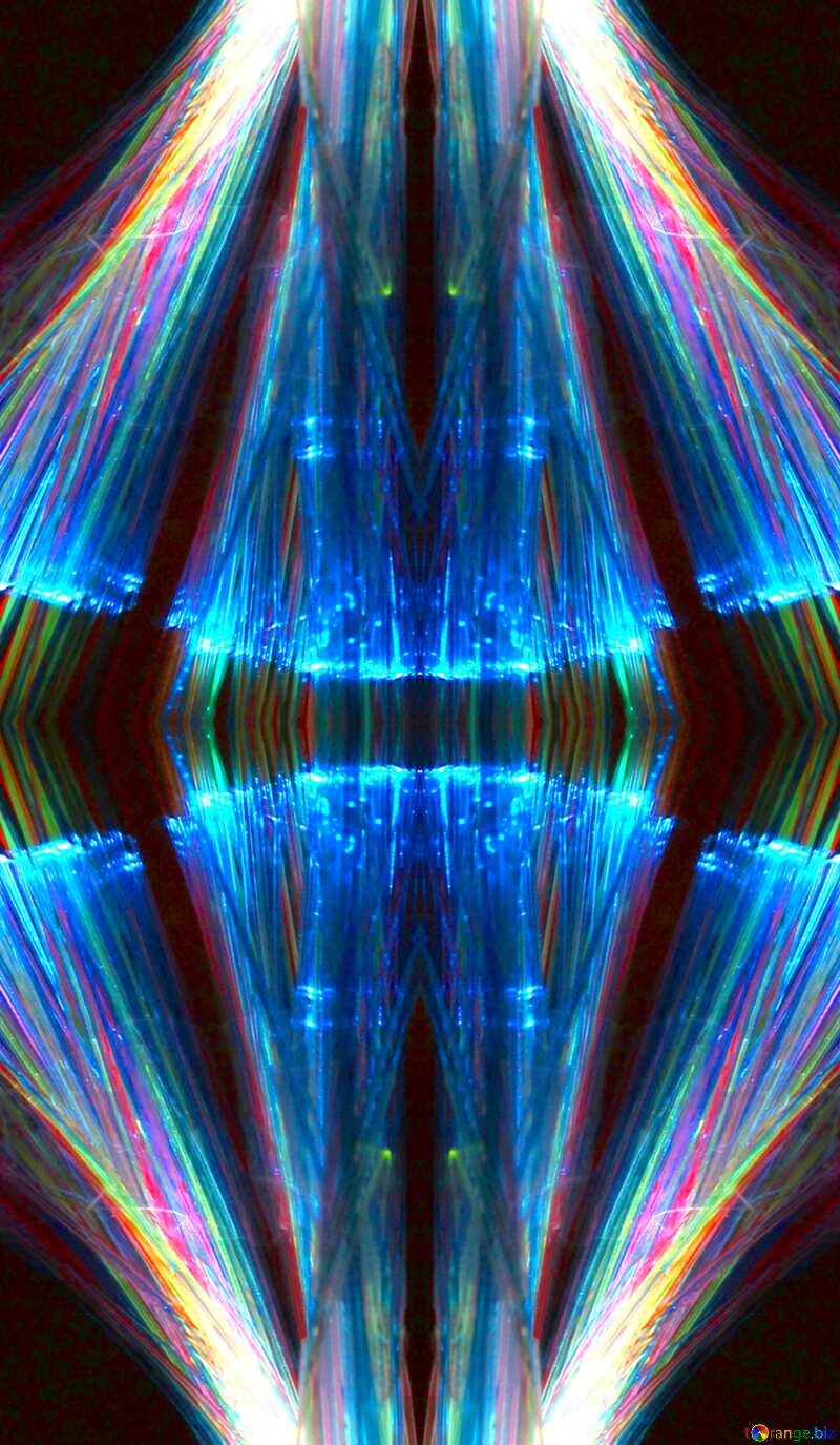 Lights fractal background space №25870
