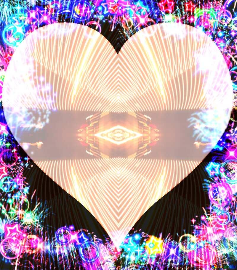 Frame multi-colored love background frame Lights lines curves pattern template №39964