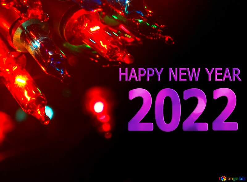 happy new year 2021 Christmas lights red  Background №41282