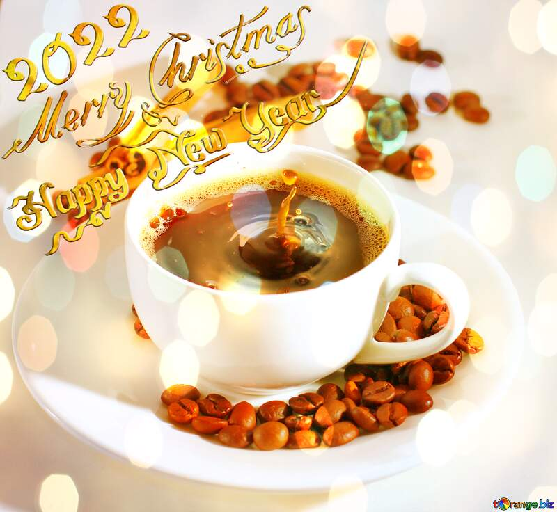 Cup of coffee happy new year 2020 №30851