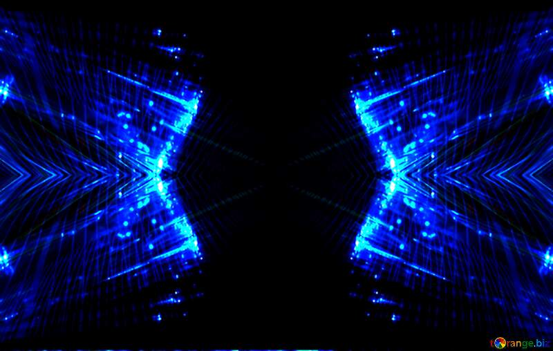 Lights fractal background blue dark №25870