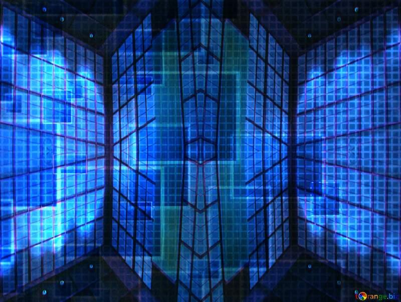 Geometric square backdrop blue Patterns Technology №49678