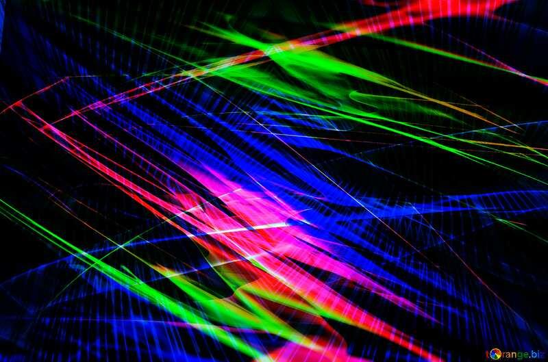 Dark colorful  blurring fragment lights lines curves pattern №40614