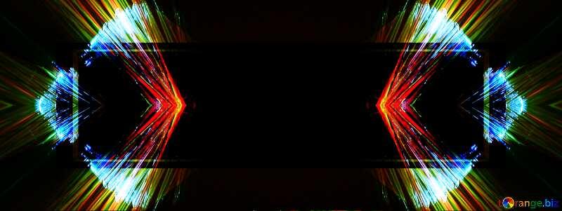 Lights fractal background website infographic template №25870
