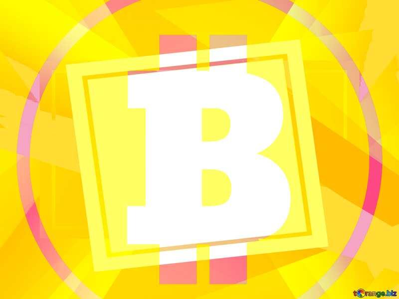 Bitcoin trend future geometrical abstract creative template №49602