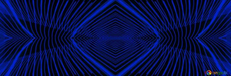 Lights lines curves pattern dark blue №32076