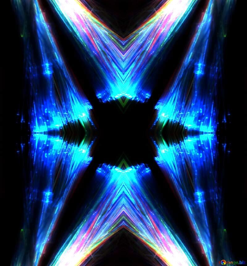 Lights blue fractal background №25870