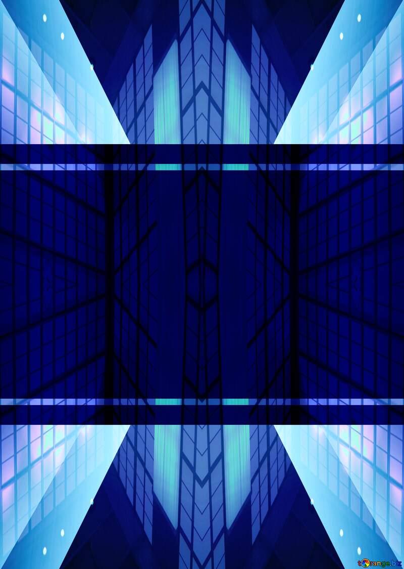 Geometric square backdrop blue Template Lines №49675
