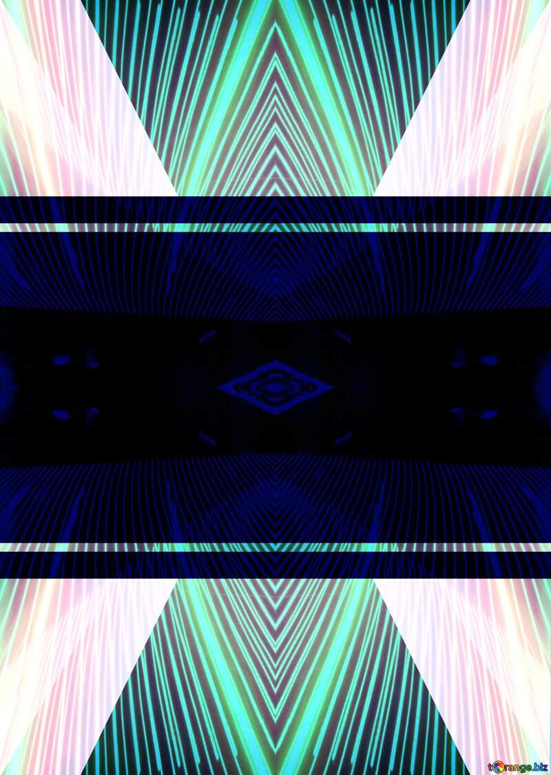 Blue toned illustration template frame Lights lines curves pattern template №49675