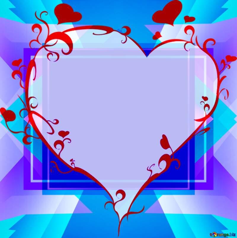 heart love frame  Christmas tree of snowflakes №40736