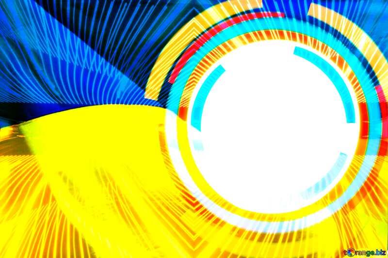 Lights lines curves pattern template Ukraine Infographics Background №49680