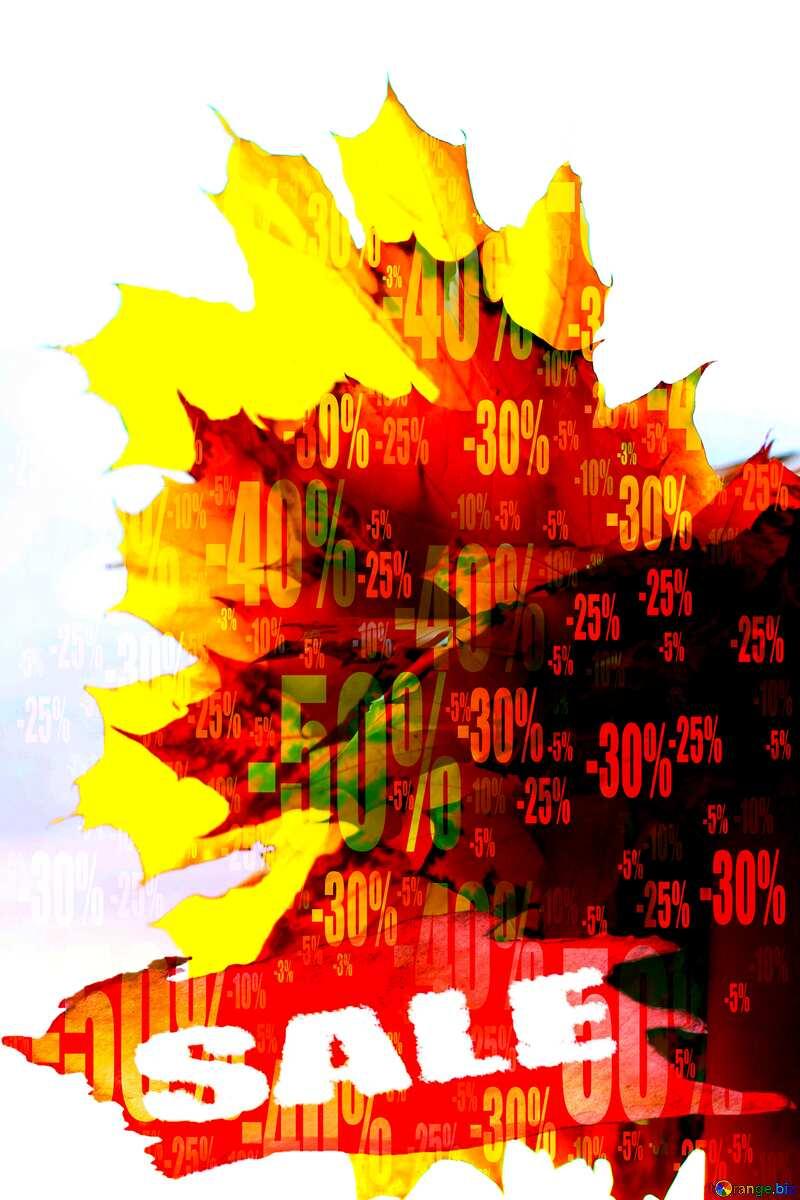 Store discount dark background. Autumn Sale №40879