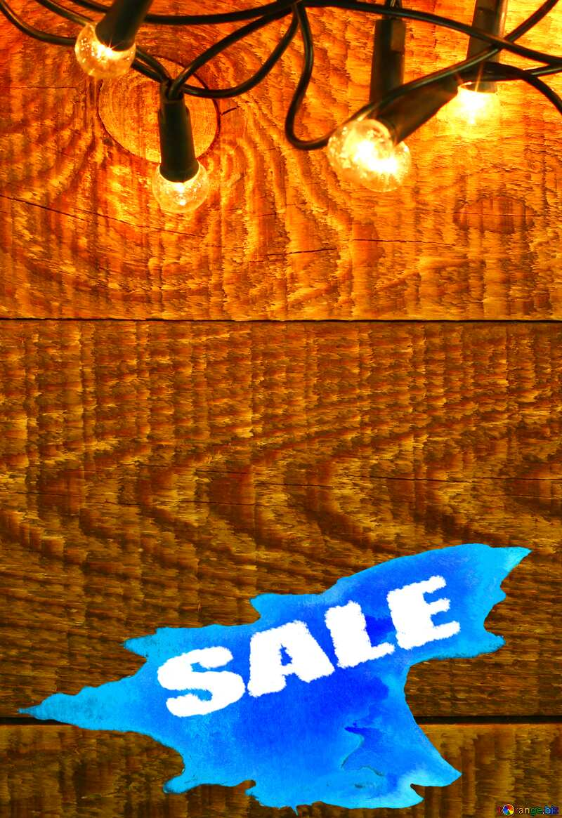 Christmas Garland on wooden wall backdrops Sale background №37890