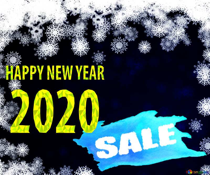 New year 2020 background with snowflakes winter sale banner template design background №40728