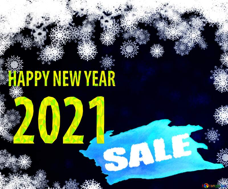 New year 2021 background with snowflakes winter sale banner template design background №40728