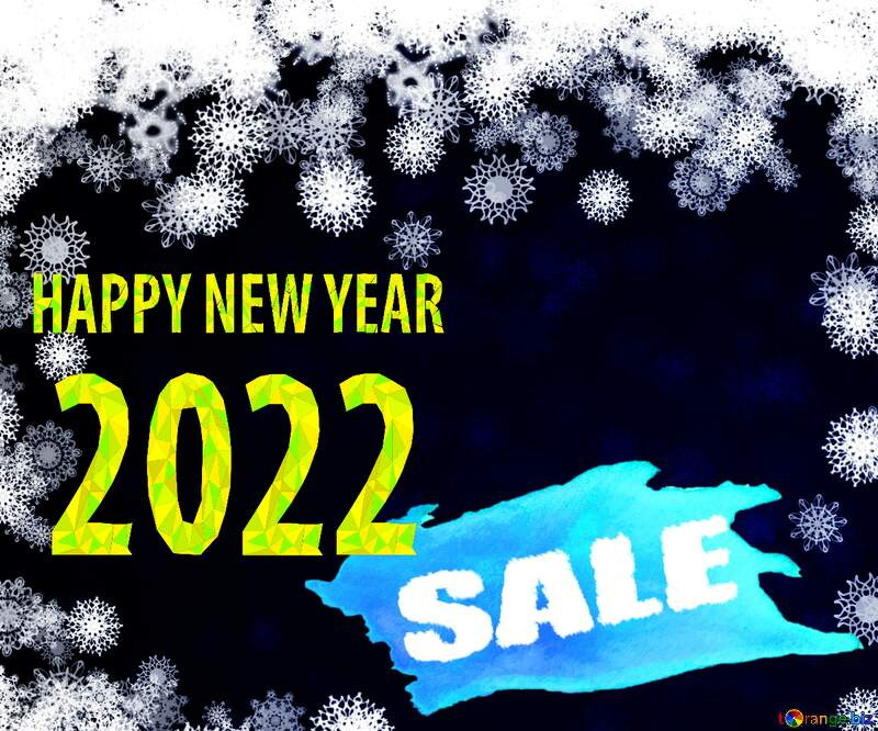 New year 2022 background with snowflakes winter sale banner template design background №40728