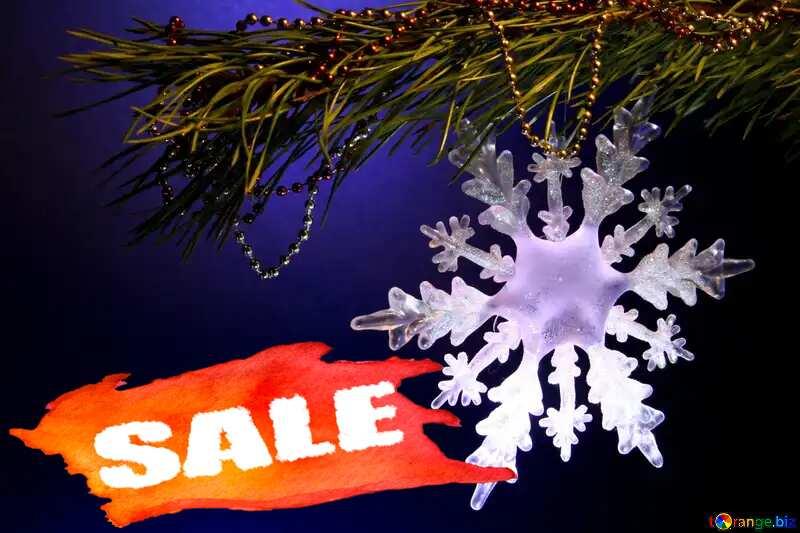 Snowflake Sale background №2393