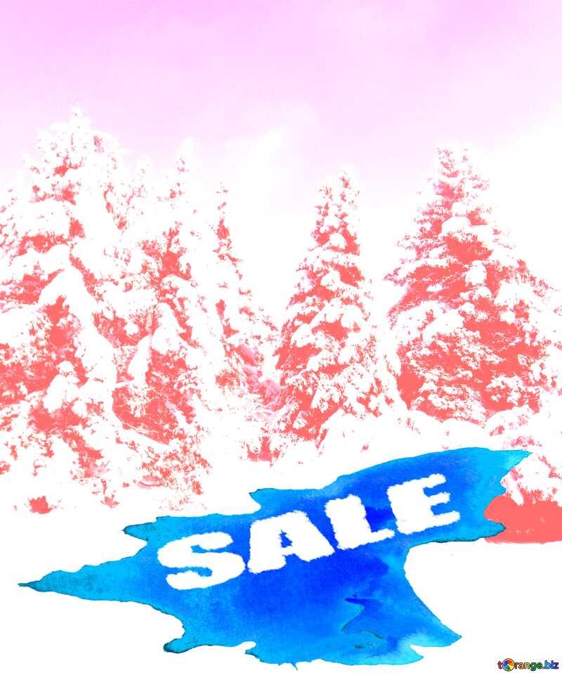 Winter Sale background №10576