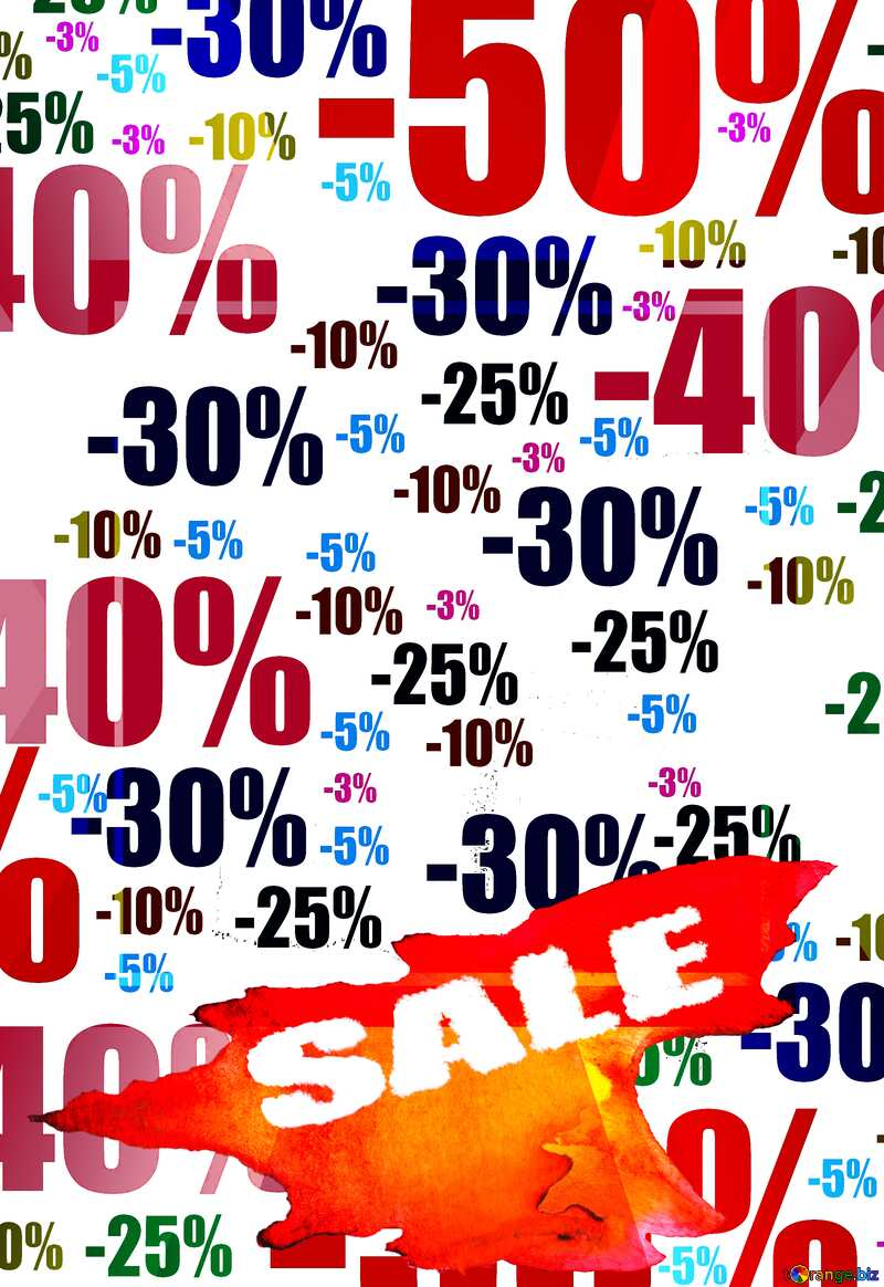 Store discount background. red yellow orange shopping promotion №51545