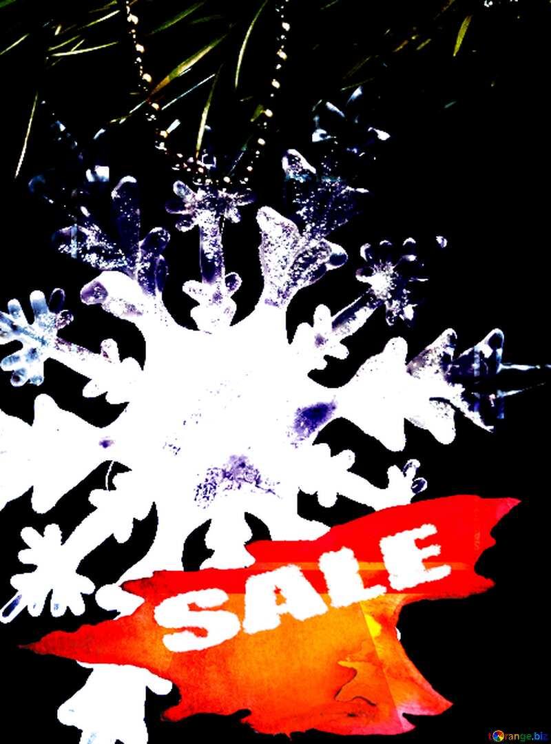 Winter sale snowflake dark  business design picture №2393