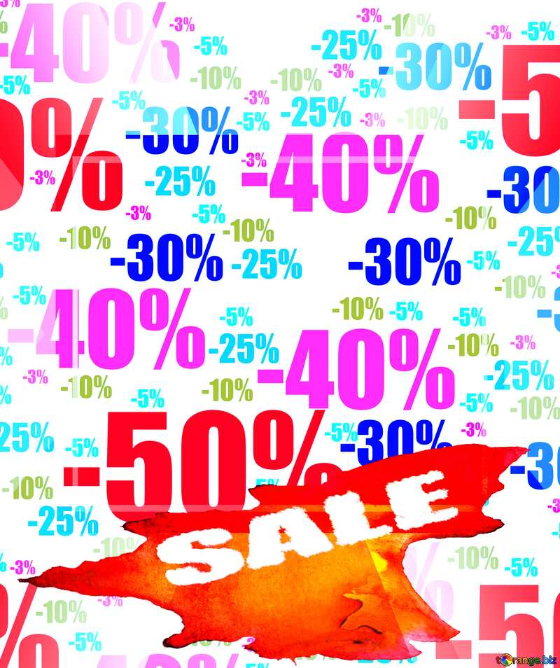 Store discount background. banner or poster shopping №51545