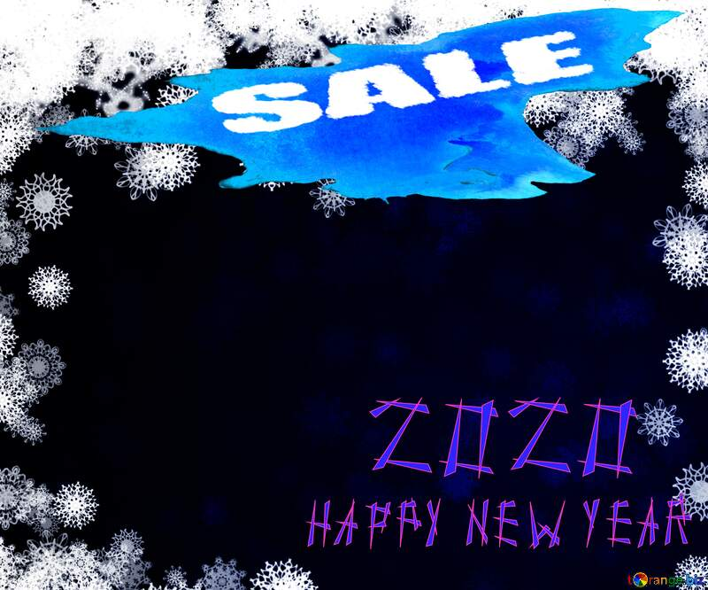 Happy New year 2020 snowflakes winter sale banner template design background №40728