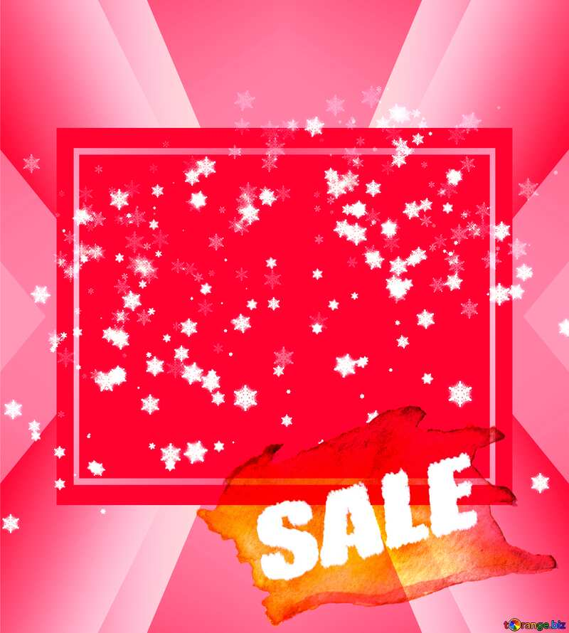 Responsive Snowflakes red abstract winter sale banner template design background №40031