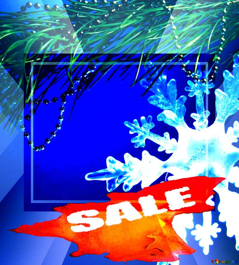 Winter sale snowflake  snow template discount promotion №2393