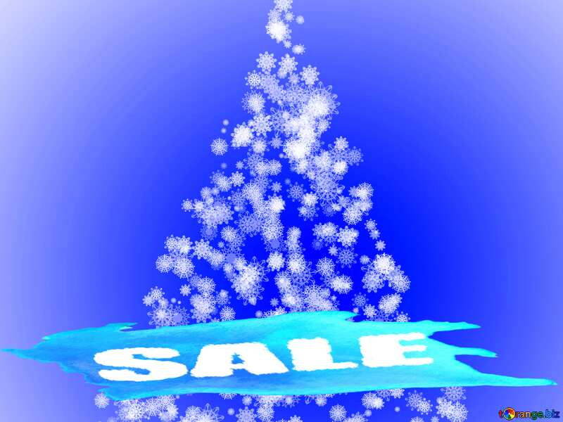 Christmas tree of snowflakes Sale Banner Template №40661