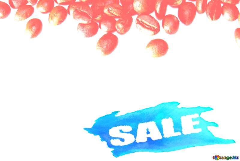 Sale background Coffee Beans №32291