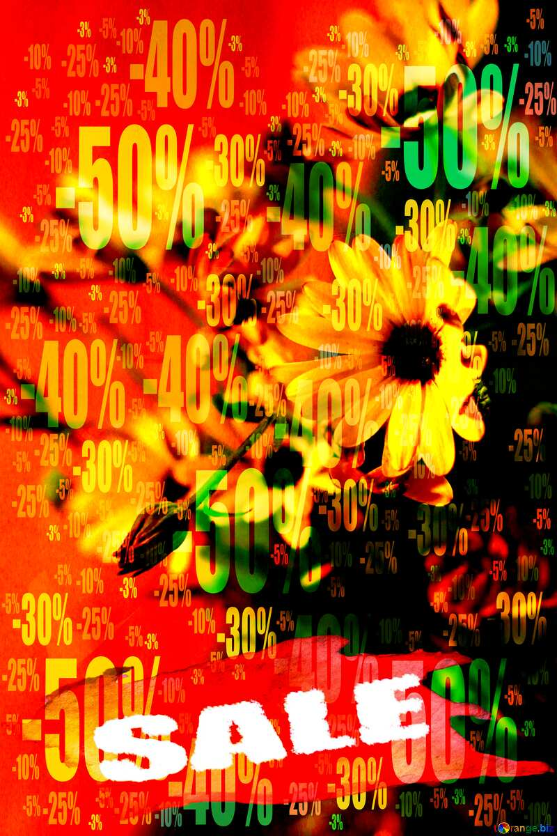 Store discount dark background. Autumn Beautiful Bouquet Sale №46861