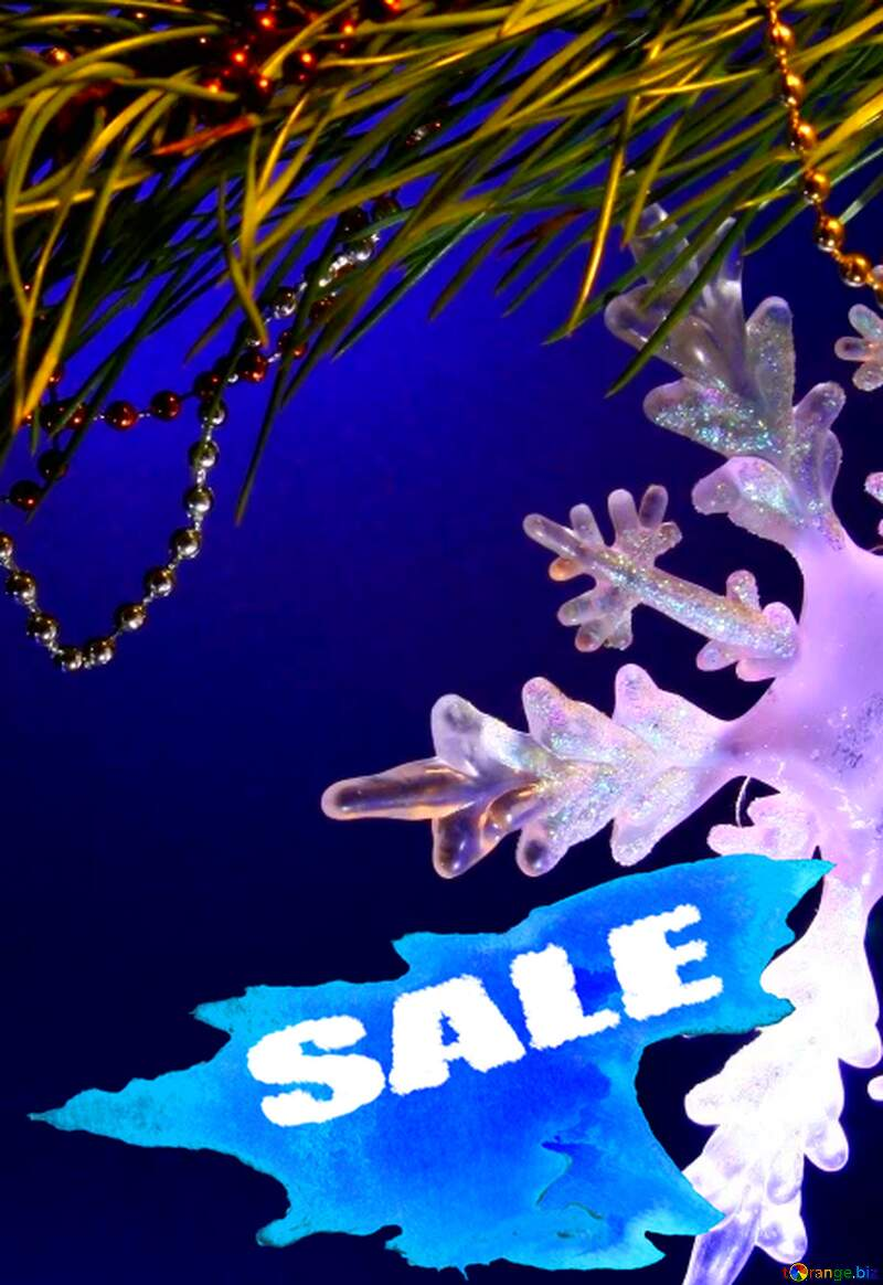 Winter sale snowflake  shopping promotion discount background №2393