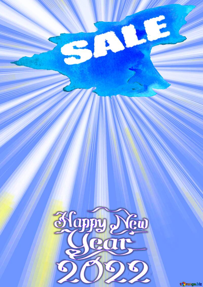 Winter sale Happy New Year 2022 Card Background Rays №49660
